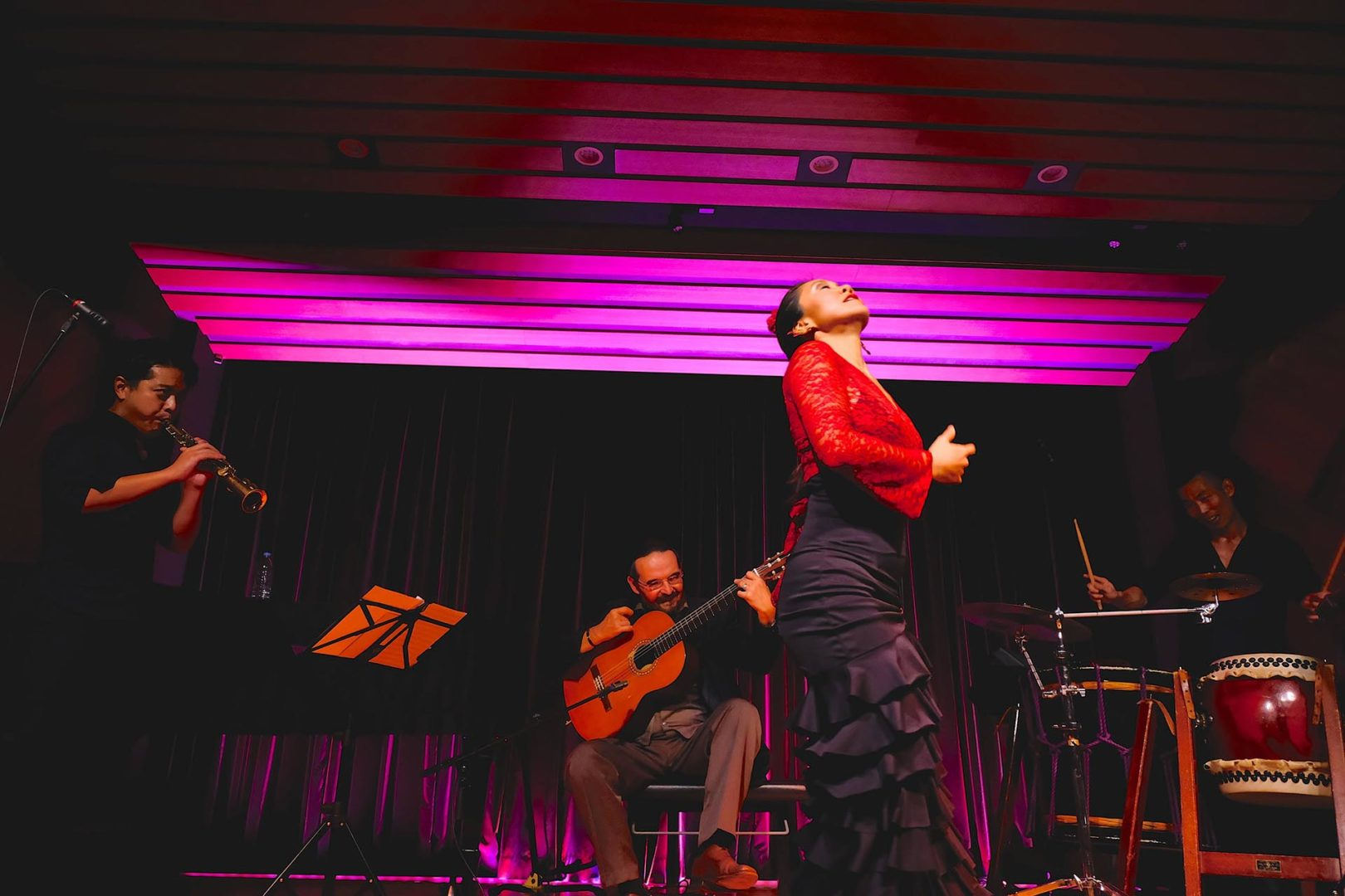 Masaki Otawa 大多和正樹 (Japanese taiko player - 和太鼓奏者) [Flamenco Jazz Japan_2018_2] Ricardo Garcia, Yuichiro Tokuda, Nanako Aramaki